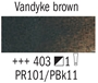 Picture of Rembrandt Oil 150ml - 403 - Vandyke Brown