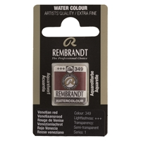 Picture of Rembrandt Watercolour Half Pan - 349 - Venetian Red  S1
