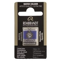 Picture of Rembrandt Watercolour Half Pan - 511 - Cobalt Blue   S3