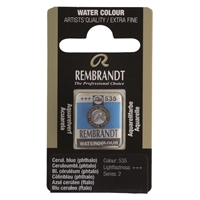 Picture of Rembrandt Watercolour Half Pan - 535 - Cerulean Blue Phthalo S2
